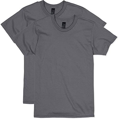 Hanes Men's Nano Premium Cotton T-Shirt (Pack of 2), Smoke Grey, - White T-shirt Character