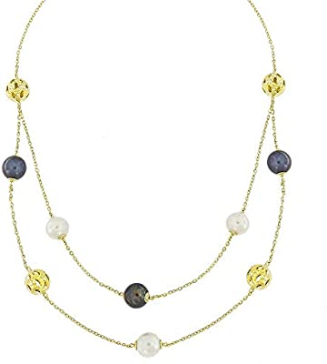 Damas - Kiku Pearl Necklace: Amazon com