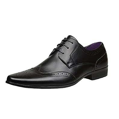 Robelli - Zapatos de cordones de Material Sintético para hombre Negro negro, color Negro, talla 41 EU / 7 UK
