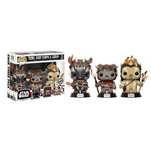 Funko Pop 3 Pack Star Wars 40th Anniversary EWOK Walmart Exclusive Teebo, Chief Chirpa & -