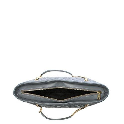 Love Moschino Catena manico grigio trapuntato Shopper Grey Leather Edición Barata Limitada 4VZzUzR9b