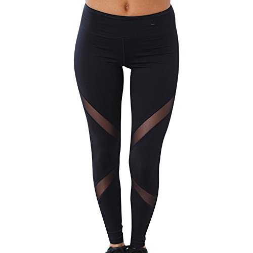 Mujer Pantalones Y Deportivos De Yoga Y Flacos De Polainas De Malla Fitness Femenino