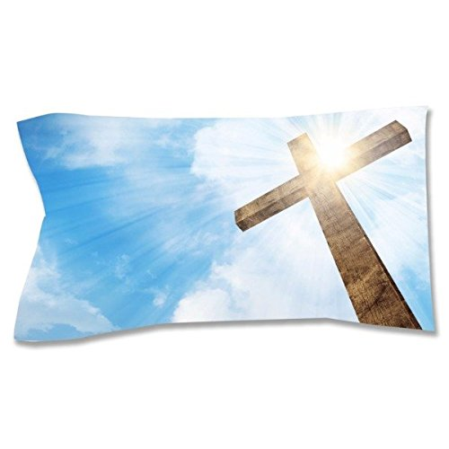 Cross In Clouds Pillow Sham, King by Pixsona