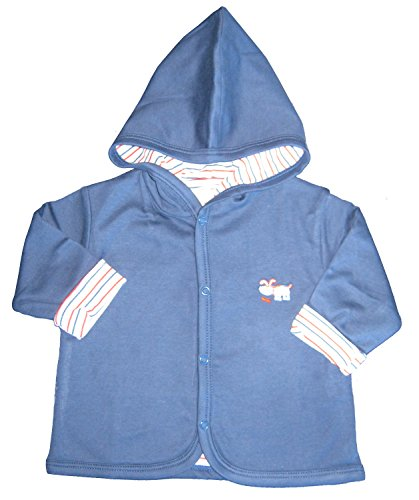 Kissy Kissy Baby-Boys Infant Pup Paw-trol Reversible Jacket With Hood-Navy-9 Months (Reversible Shortall)