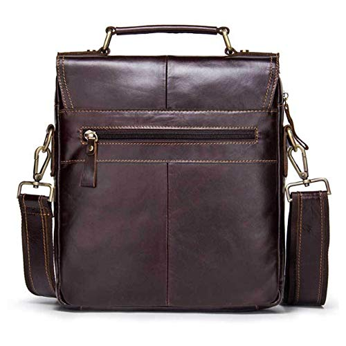 Brown En Bandoulière Bags Main amp; Sac Handbags À Yqxr Cuir Pour Shoulder Homme wURv7