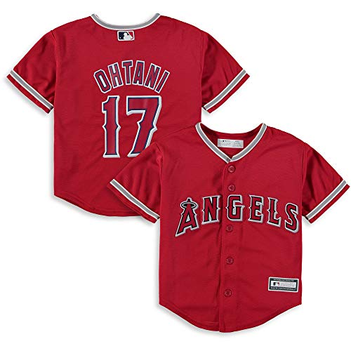 Angels Knit Jacket - Outerstuff Shohei Ohtani Los Angeles Angels #17 Infant Size Cool Base Alternate Jersey Red (12 Months)