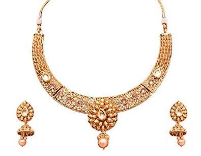 Buy sitashi imitationfashion jewellery gold plated wedding sitashi imitationfashion jewellery gold plated wedding necklace set for women junglespirit Images