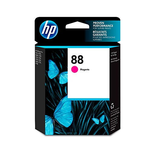 HP 88 Magenta Ink Cartridge (C9387AN) for HP Officejet Pro K5400 K550 K8600 L7580 L7590 L7680 L7780 DISCONTINUED BY - Color L7580 Pro Officejet
