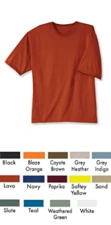 Duo-dri Men's Short Sleeve Crew - 18ss (Small, Coyote Brown)