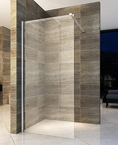 Mampara de ducha, 120 x 200 cm, con revestimiento NANO: Amazon.es ...