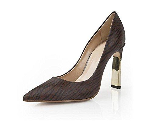 Fer Hauts à du Talons Ras Black Wedding Nightclub Chaussures Femmes Leopard xie Shoes Chaussures à Talon wvqUYa
