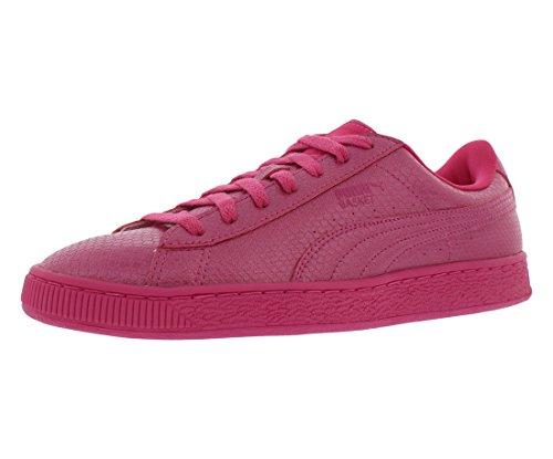 PUMA Women's Basket Future Minimal Wn's Fashion Sneaker, Fuchsia Purple, 6.5 M US - Metallic Suede Sneakers