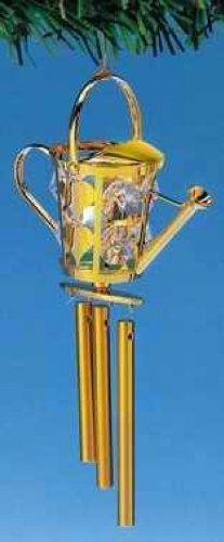 - Gold and Crystal Watering Can Windchime