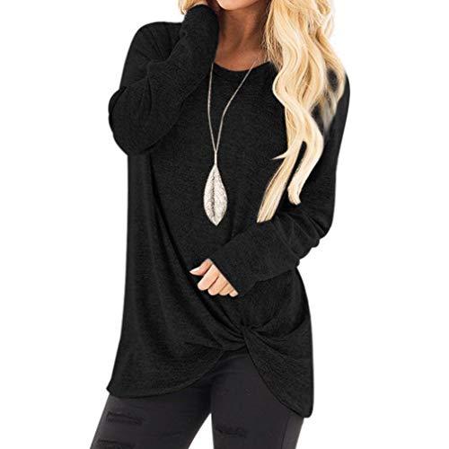 Printemps Haut Lache T Tops Casual Design Tunique Femme Blouse Rond Pullover Hibote 2XL Hiver Col 1 Large Tunique Shirt Coton Croix Automne S Manches Longues pAx4wf