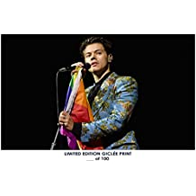 RARE POSTER thick HARRY STYLES limited 2018 REPRINT #'d/100!! 12x18