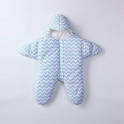 DYMAS Bebé antichoque Salto pañales por 0-1-año-viejo bebé Bolsa de Cremallera de Estrella de mar Dibujos Animados Saco de Dormir del bebé