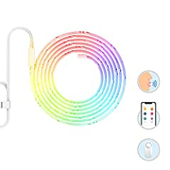 YEELIGHT Smart LED Strip is designed for multiple use and different occasions. Its flexibility allows you to attach, bend and shape. Free YEELIGHT APP provides basic control and fun functions, dimming, changing color&color tempe...