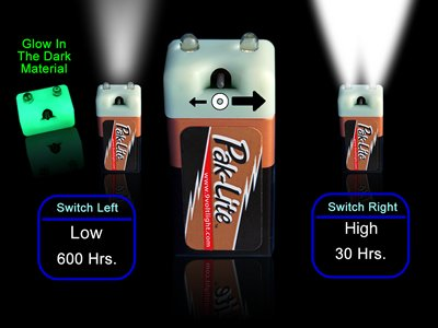 PAK-LITE Super Glow LED Flashlight with 9 Volt DURACELL (Pak Army The Best)