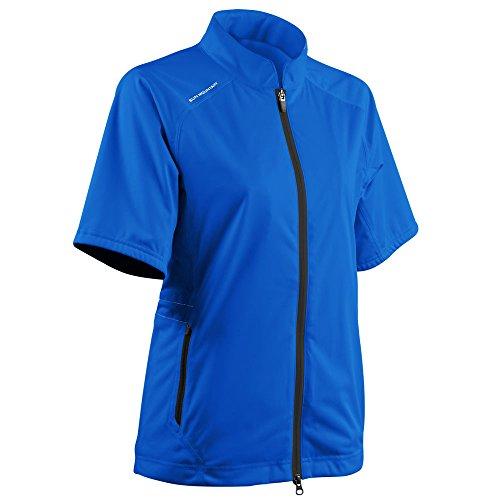 Sun Mountain Women's Rainflex Shortsleeve Golf Jacket - Sapphire (Large) ()