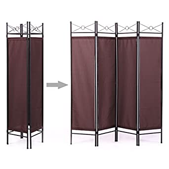 Amazoncom Room Divider Screen 4 Panel BN Folding Partition Privacy