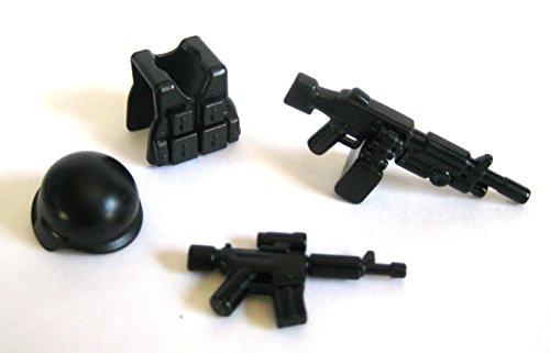 BrickArms Support Gunner Pack for Minifigures -M249, Vest, Helmet