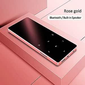 MP3 Player with Bluetooth Speaker Touch Key Built-in 8GB 16GB HiFi Metal Mini Portable Walkman with Radio FM Recording