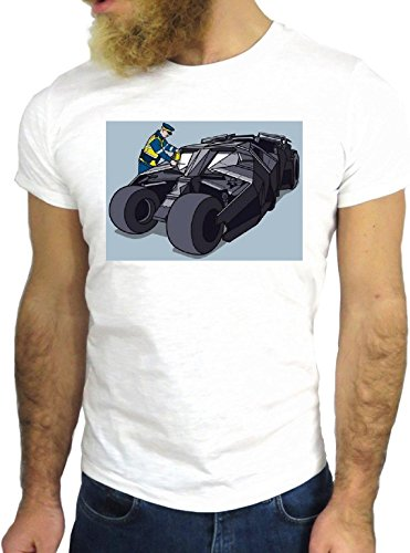 T SHIRT JODE Z2377 COOL FUN NICE BAT HERO CAR TICKET MULTA MAN USA HIPSTER FUN GGG24 BIANCA - WHITE M
