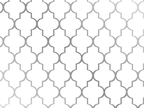 Pack of 1, Arabesque 30'' x 417' Half Ream Gift Wrap (Metallized) for Holiday, Party, Kids' Birthday, Wedding & Special Occasion Packaging by Generic
