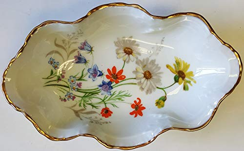 Limoges New Authentic Signed Porcelain Hand Painted Small Tray (Muliti-Colors) - Made in France