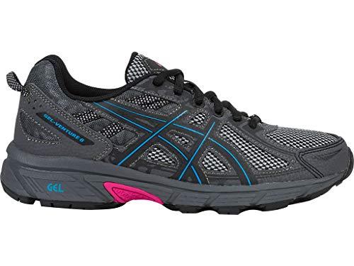 ASICS Women's Gel-Venture 6 Running Shoes, 9.5M, Black/Island Blue/Pink Glow