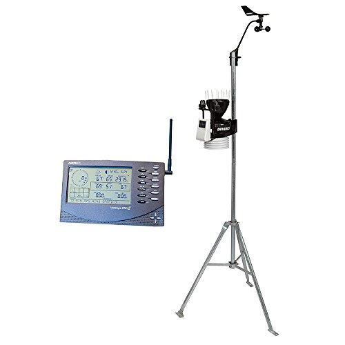 Davis Instruments 6162 Vantage Pro2 Plus Wireless Weather Station with UV Sensor, Solar Radiation Sensor, Standard Passive Radiation Shield and LCD Display Console