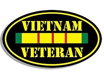 GHaynes Distributing MAGNET BLACK OVAL Vietnam Veteran Magnet(vet nam ribbon proud army) Size: 3 x 5 inch ()