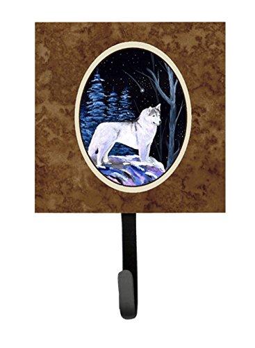 Caroline's Treasures SS8400SH4 Starry Night Siberian Husky Leash Holder or Key Hook, Small, Multicolor - Siberian Husky Leash Holder