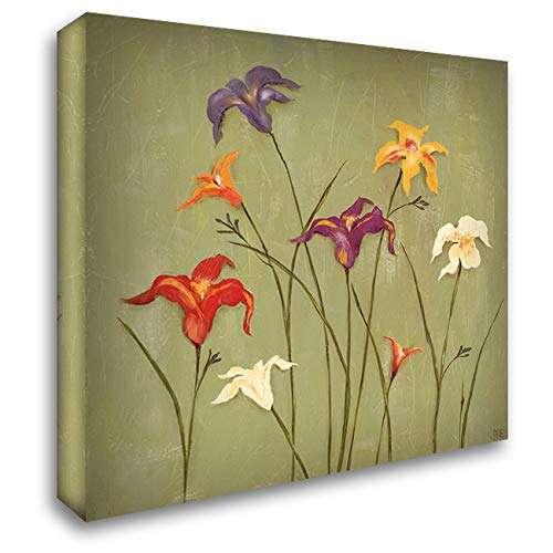 Jeweled Lilies II 28x28 Gallery Wrapped Stretched Canvas Art by Reynolds, Jade