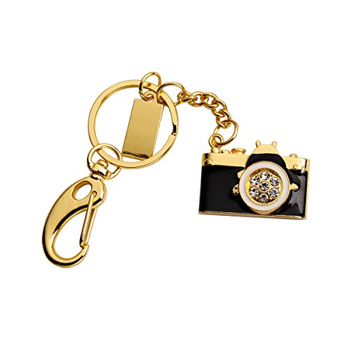 16GB Flash Drive,HKUU USB Memory Stick Jewelry Camera Shaped Pen Disk Thumb Drives with Key Chain