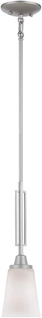 Thomas Lighting TC0008117 Wright 1-Light Mini Pendant in Matte Nickel