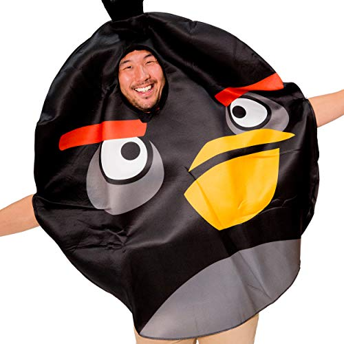 Black Angry Birds Costume for Adults - Angry Bird Movie Inspired Unisex Costume for Men Women and