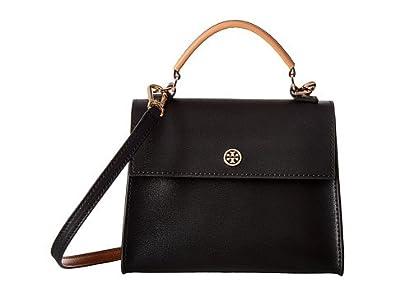 d50e0a9bfb3 (トリーバーチ)TORY BURCH ファッションサッチェルバッグ Parker Color Block Small Satchel  Black Cardamom