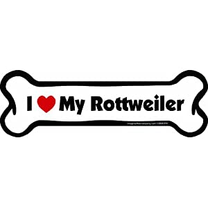 Imagine This Bone Car Magnet, I Love My Rottweiler, 2-Inch by 7-Inch 9