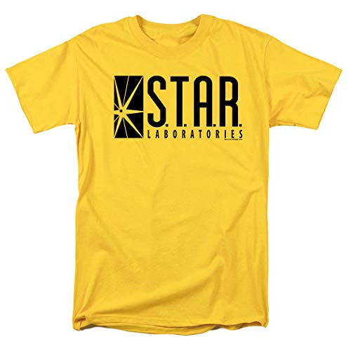 Flash Superhero Star Labs Yellow T Shirt (Small)]()