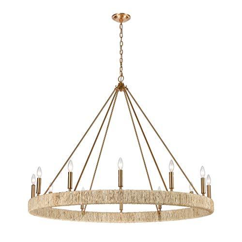 Elk Lighting 32417/12 Abaca 12-Light Satin Brass ()