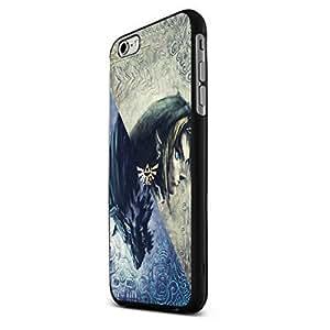 Zelda and Wolf Twilight Princess Custom Case for Iphone 5/5s/6/6 Plus (Black iPhone 6)