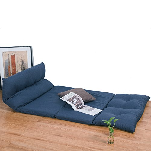 Merax fabric folding chaise lounge floor gaming sofa chair for Chaise game free download