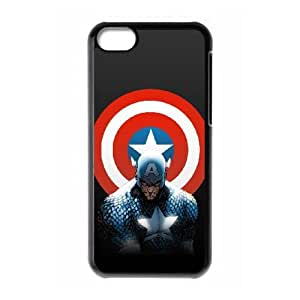 Captain America iPhone 5c Cell Phone Case Black DIY Gift xxy002_0343771