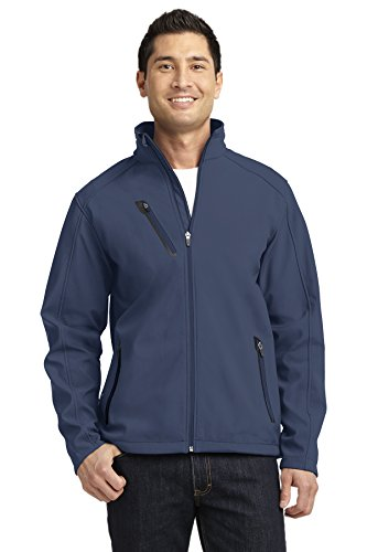 Port Authority Welded Soft Shell Jacket. J324 (Dress Blue Navy, M)