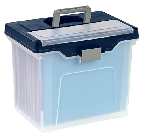 - Office Depot Large Mobile File Box, Letter Size, 11 5/8in.H x 13 3/6in.W x 10in.D, Clear/Blue, 110988