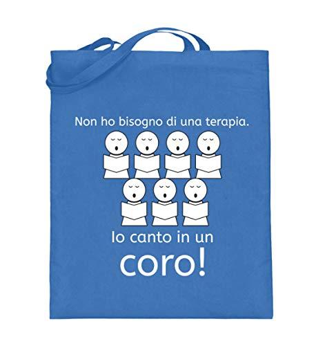 Ideale Bisogno Lunghi In Per Blue Manici Borsa Un Shirtee Iuta Io Non con Cantanti Coro Terapia Canto Ho Di Una fBAwqBxPE