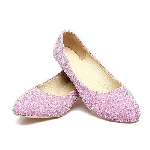 Balamasa Damer Chunky Klackar Pilla Pinker Urringade Överdelar Imiterade Läder Pumpar-skor Rosa