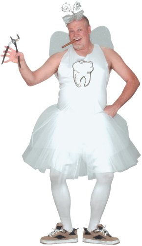 Fun World Men's Tooth Fairy Adlt Cstm, multi One Size