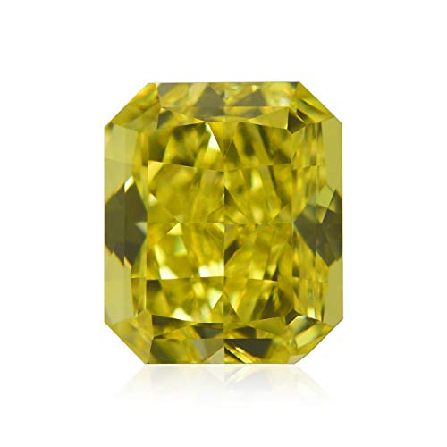 Leibish & Co 1.03Cts Fancy Vivid Yellow Loose Diamond Natural Color Radiant Cut GIA Cert - Fancy Yellow Radiant Cut Diamond